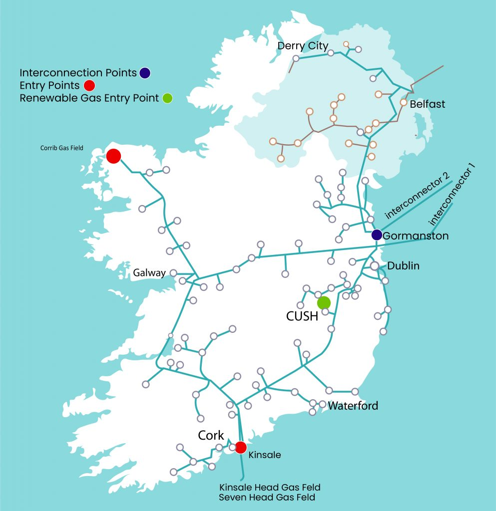 Green Gen Gas Network map